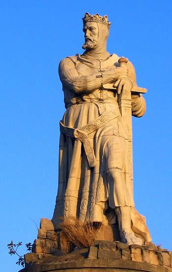 Estatua de Alfonso el Batallador en Zaragoza