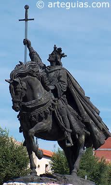 Estatua de Alfonso VI en Toledo