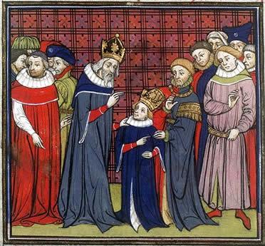 Carlomagno y su hijo Luis el Piadoso