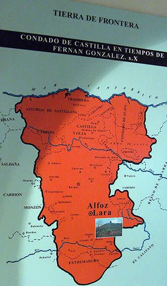 Mapa del Condado de Castilla en tiempos de Fernán González