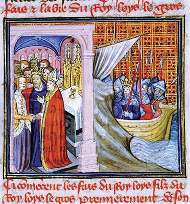 Leonor de Aquitania y Luis VII