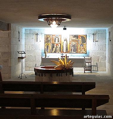 Pozo de la cripta de la iglesia de Santo Domingo (Caleruega) Lugar exacto donde nació Santo Domingo de Guzmán