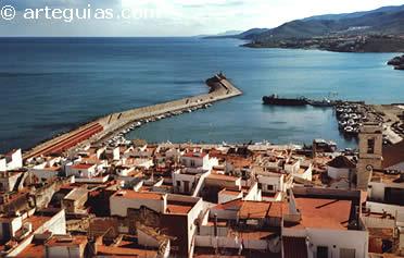 Vista del mar desde el castillo de Peñíscola