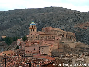 Vista general de la Catedral de Albarracín, Teruel