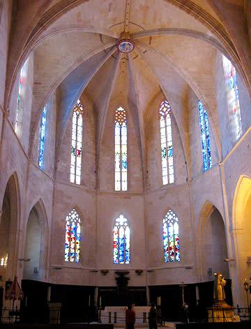Interior del ábside de la Catedral de Ciutadella, Menorca