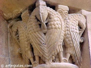 Capitel románico de una de las puertas de la Catedral de Pamplona