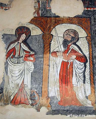 Pinturas murales aparecidas en una reciente restauración