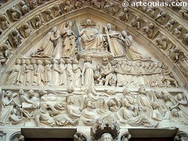 Puerta del Juicio de Notre Dame de París. Primeras décadas del siglo XIII