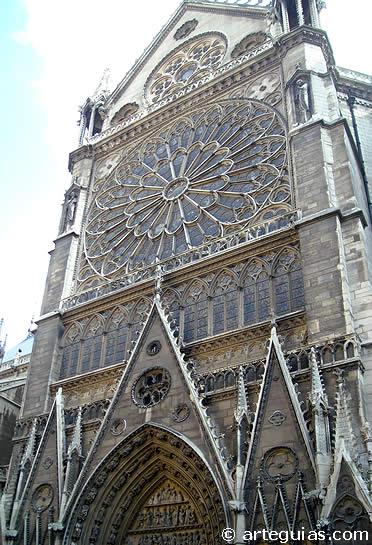 Hastial sur del transepto
