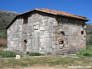 Ermita de Quintanilla de las Viñas: muro de cierre tras el derrumbe de las naves