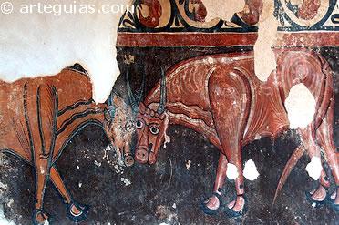 fragmento de las pinturas de San Baudelio de Berlanga