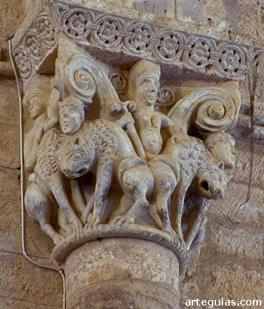 Capitel de curiosa y misteriosa iconografía