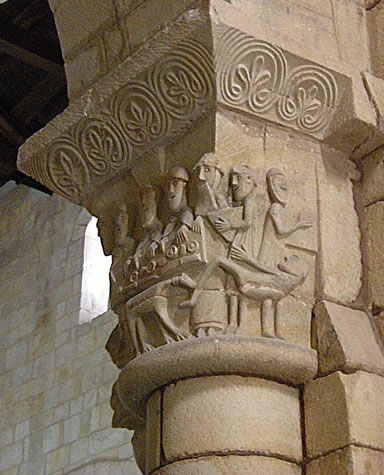 Capitel del pobre Lázaro y el rico Epulón