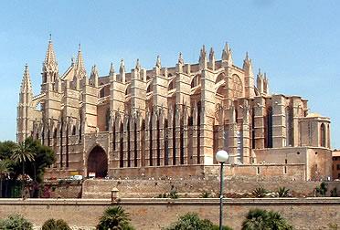 Exterior de la catedral de Palma de Mallorca