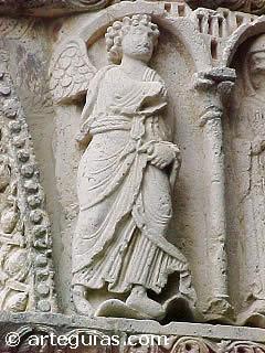 Fragmento de la Anunciación de Monasterio de Santa María de Estíbaliz, Álava