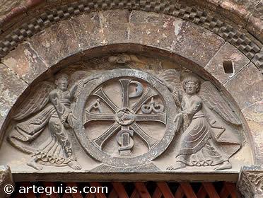 Tímpano de la portada norte deSan Pedro el Viejo de Huesca