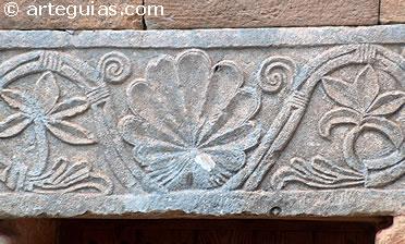 Friso esculpido en la iglesia visigoda de Quintanar de las Viñas