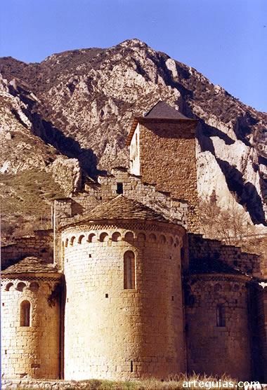 Monasterio de Alaón: cabecera de la iglesia