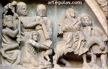 escultura gótica: Santa María de Olite
