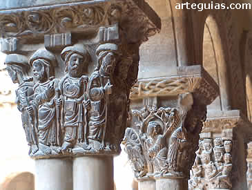 Capiteles. Claustro de la Catedral de Tudela. Navarra