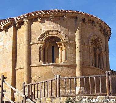 Ábside de la iglesia de Villaseca. La Rioja