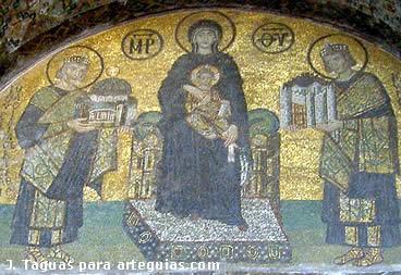 Historia del arte arte bizantino for El mural de mosaicos