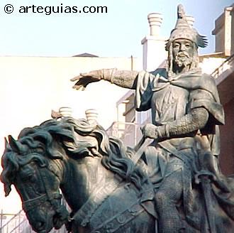 Estatua de Jaime El Conquistador en la ciudad de Valencia