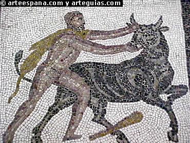 Los mosaicos romanos muestran los mismos motivos y estética que la pintura romana. MAN