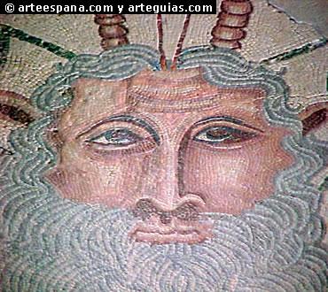 Las escenas mitológicas estuvieron muy presentes en los mosaicos romanos. Este mosaico es de la Villa de Carranque (Toledo)
