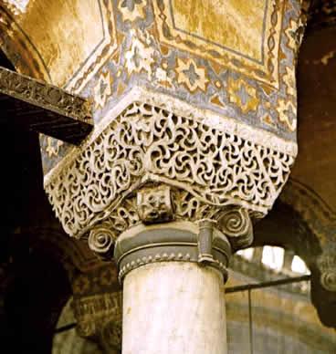 Cazpitel de Santa Sofía. Estambul - Bizancio