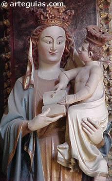 Virgen gótica. Catedral de Pamplona