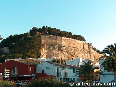Parte del gran conjunto de fortificaciones de Denia. Alicante