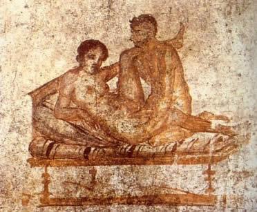 Arte erótico romano: pinturas en Pompeya