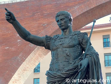 Retrato toracatos de Augusto (replica ubicada en Zaragoza)