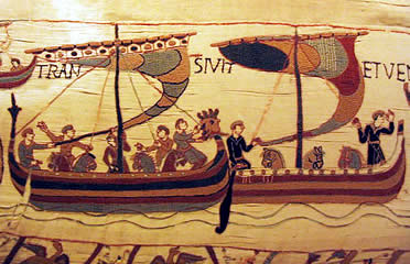 Barcos vikingos en el Tapiz de Bayeux
