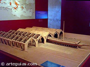 Maqueta de las atarazanas de Valencia, Siglo XIV.