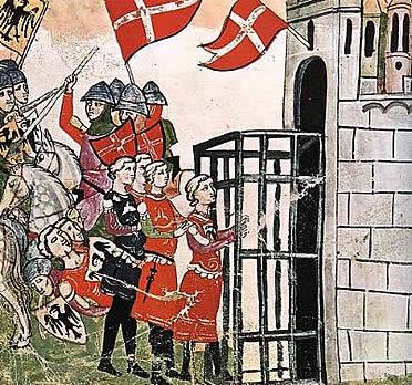 Los códices constituyen una magnífica fuente para conocer distintos pormenores sobre la guerra en la Edad Media. En la imagen, lámina del Códice Chigi