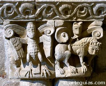 Románico en Zamora: capitel de San Claudio de Olivares