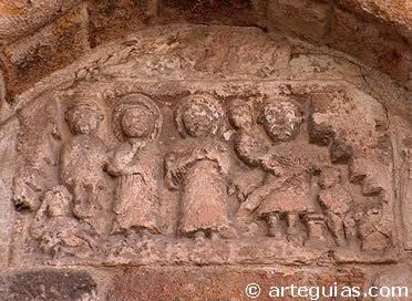 Relieve en uno de los tímpanos de San Cipriano, Zamora