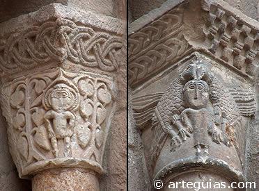 Capiteles del ábside