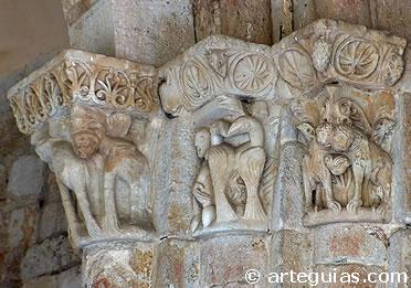 Capiteles interiores. Santiago el Viejo, Zamora