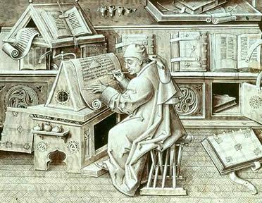 La literaurura, la intelectualidad y cultura medieval estuvo encerrada durante los primeros siglos medievales en los scriptorium de los monasterios