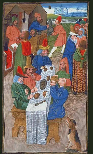 Fiesta y comida medieval