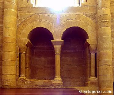 Detalle interior de la capilla del castillo de Alcañiz