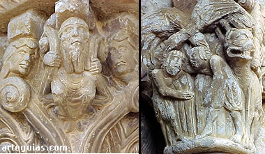 Capiteles de la iglesia de Artaiz
