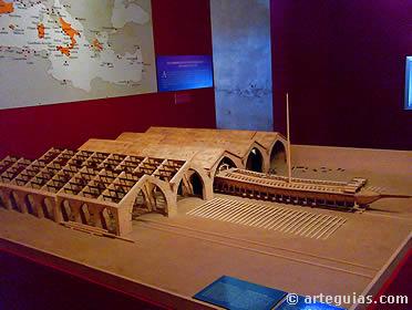 Maquetas de las atarazanas de Valencia, construidas en el siglo XIV. El comercio mediterráneo fue el principal motor de la Corona de Aragón