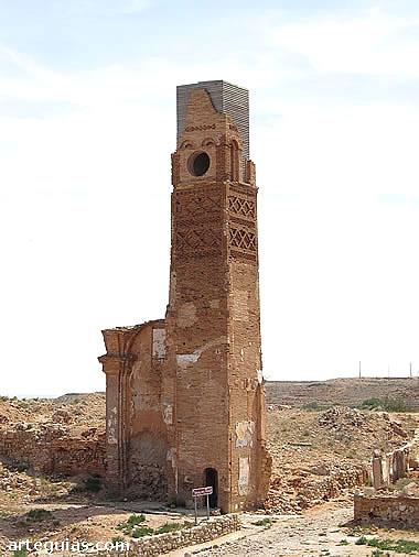 Torre del Reloj. Belchite Viejo