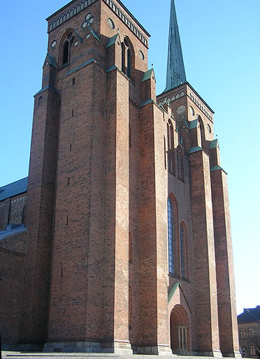 Catedral de Roskilde. Hastial occidental