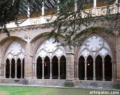 Claustro del Monasterio de Veruela, construido tras la Guerra de los Dos Pedros