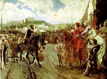 Cuadro de la entrega de las llaves de Granada, de Francisco Pradilla